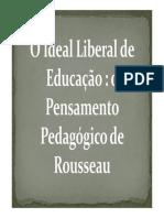 o Pensamento Pedagogico de Rousseau