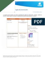 03.03 RESUMEN DE REGLAS DE FACTORIZACION