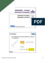 ENG03002 f - Quadratura de Gauss