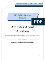 Attitudes about Abortion, AEI Public Opinion Study, January 2011