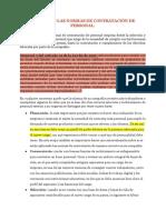 APLICANDO LAS NORMAS DE CONTRATACIÓN DE PERSONAL