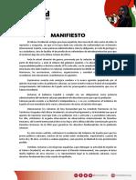 Manifiesto Marcha Por La Libertad Del Pueblo Saharaui
