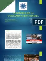 Auditoria de La Contaminacion Sonora