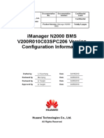 iManager N2000 BMS V200R010C03SPC206 Version Configuration Information_Issue 1.26