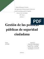 Gestión de las políticas públicas de seguridad ciudadana