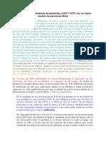 Eliminación de Los Sistemas de Pensiones (ONP Y AFP) Por Un Nuevo Modelo de Pensiones Mixto