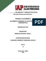 ACEURDO PLENARIO - PRISION PREVENTIVA