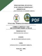 CAMBIO CLIMATICO Y SUS IMPLICANCIAS EN LA SALUD