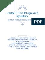 Unidad 1 Uso Del Agua en La Agricultura