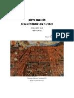 Breve Relación de Las Epidemias en El Cuzco. Primera Parte