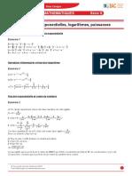Corriges Maths S 03