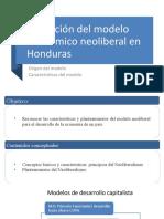 Modelo neoliberal en Honduras(1)