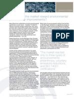 When does the market reward environmental performance improvements?
