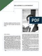 Salvador Allende y La Universidad