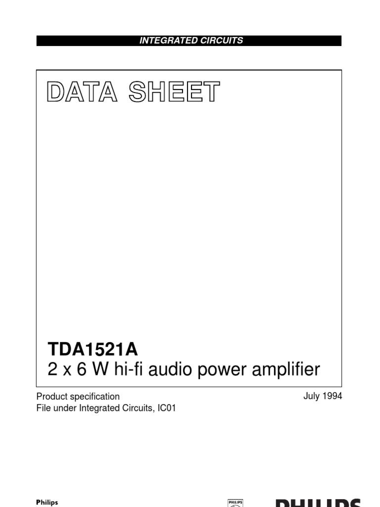 Tda1521a Cnv 2 Amplifier Power Supply Motorola Hifi Circuit Design