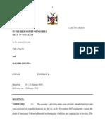 The State v Mahupe Sentence. CC 18 - 2010. Tommasi, J.02 Feb 2011