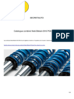 Catalogue Combines Filetes Bilstein b16 Pss10 Par Secretauto