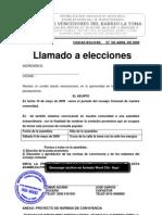 CONSEJO COMUNAL LLAMADO A ELECCIONES
