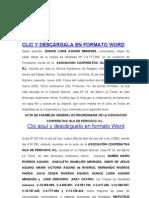 COOPERATIVA ACTA DE INCLUSION  Y EXCLUSION DE SOCIOS