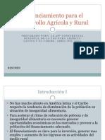 Financiamiento para el Desarrollo Agrícola y Rural