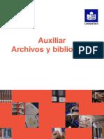 Temario Auxiliar Archivos y Bibliotecas d.i