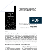 o Uso Do Modelo Hipercubo Na Solução de Problemas de Localização Probabilísticos