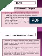 PARTIE 1 LES COUTS COMPLETS ET CHAPITRE 1 LES CHARGES DE LA COMPTABILITE ANALYTIQUE D EXPLOITATION 2020 2021