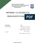 Informe I - Estado y Presupuesto Publico Equipo
