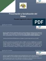 Presentacion y Socialización Del Silabo-2021-i