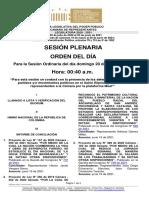 Plenaria-Orden Del Dia-Proyectos (2021!06!20)