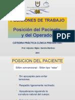 Posición del paciente y operador.2011