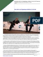 Lof - Loi Organique Relative a La Loi de Finances - Maroc - Seminaire Dappropriation de La Loi Organique Relative a La Loi de Finances - 2016-07-26 (1)