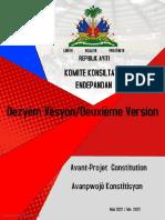 CCI CONSTITUTION Avant Projet de Constitution 2eme Version 18 Mai 21 V2 2