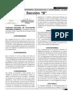 REGLAMENTO DE TRANSMISIONES EN CADENA NACIONAL DE DIFUSIÓN
