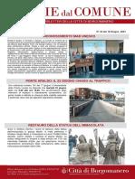 Notizie Dal Comune di Borgomanero del 18-06-2021
