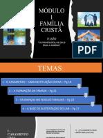 Slides Aula 1 Livro Família Cristã - 2021