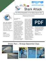 """Sep '10 - Jan '11 """"Shark Attack"""" Newsletter"""