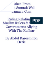 Ruling Relating to Muslim Rulers & Muslim Governments Allying With the Kuffaar