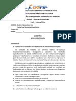EXERCÍCIO 02 - DOENÇAS OCUPACIONAIS
