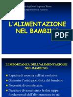 ALIMENTAZIONE  NEL BAMBINO-2011