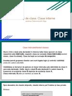 Tipuri de Clase. Clase Interne (2)