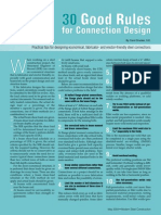 30 Good Rules for Connection Design - MSC - May 2004