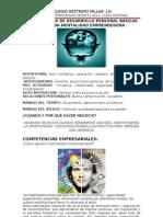 TALLER 3 COMPETENCIAS DE DESARROLLO PERSONAL BÁSICAS PARA UNA MENTALIDAD EMPRENDEDORA