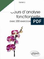 Daniel Li - Cours d'Analyse Fonctionnelle Avec 200 Exercices Corrigés-Ellipses Marketing (2013)