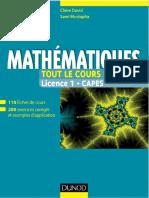 David, Claire_ Mustapha, Sami-Mathématiques _ tout le cours en fiches _ Licence 1, Capes-Dunod (2014)