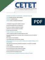 ATIVIDADE CURSO TECNICO EM ENFERMAGEM