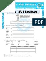 Ficha Clasificacion de Las Silabas Para Cuarto de Primaria