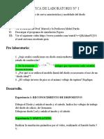 PRACTICA DE LABORATORIO N° I