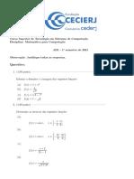 AD1-mat para computacao