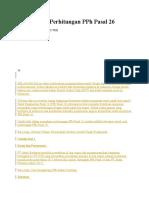 Contoh Soal Perhitungan PPh Pasal 26